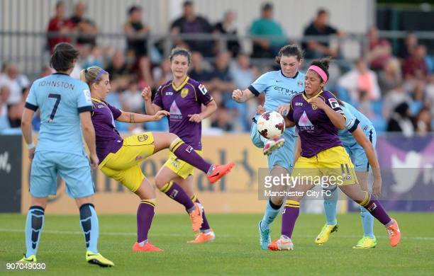 FAWSL Manchester City Women v Notts County Ladies Manchester Regional Arena Manchester City Women's Natasha Flint in action against Notts County...