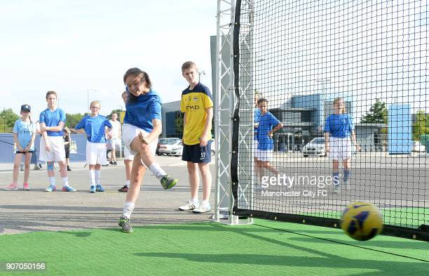 FAWSL Manchester City Women v Notts County Ladies Manchester Regional Arena Young players taking part in the community event football training...