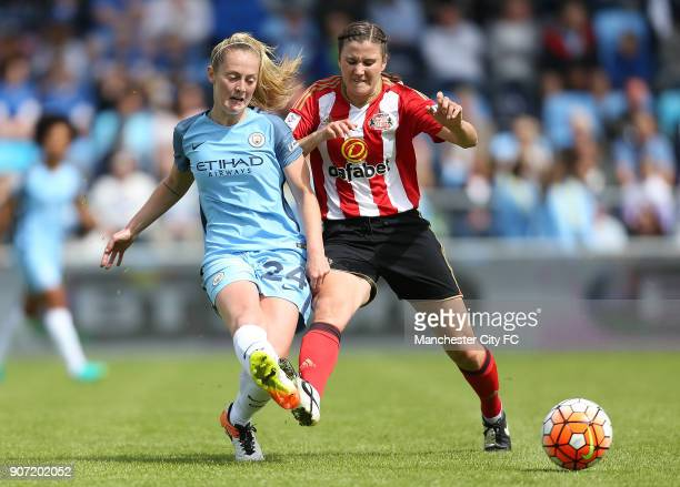 Manchester City Women v Sunderland AFC Ladies The FA Women's Super League Academy Stadium Manchester City Women's Kiera Walsh and Sunderland Ladies'...