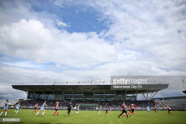 Manchester City Women's and Sunderland Ladies' during the match in the sunshine