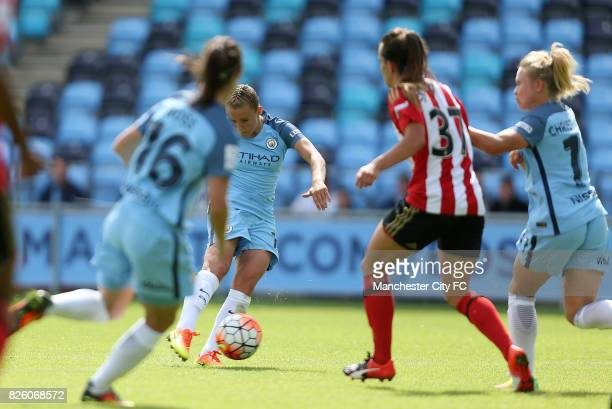 Manchester City Women's Georgia Stanway scores her 2nd goal against Sunderland Ladies