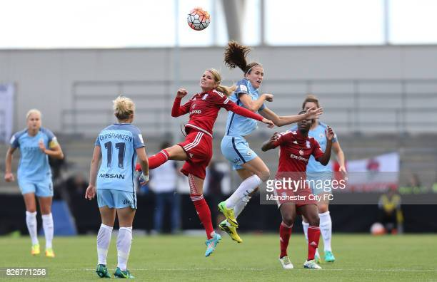 Manchester City Women's Jill Scott and Birmingham City Ladies' Andrine Hegerberg