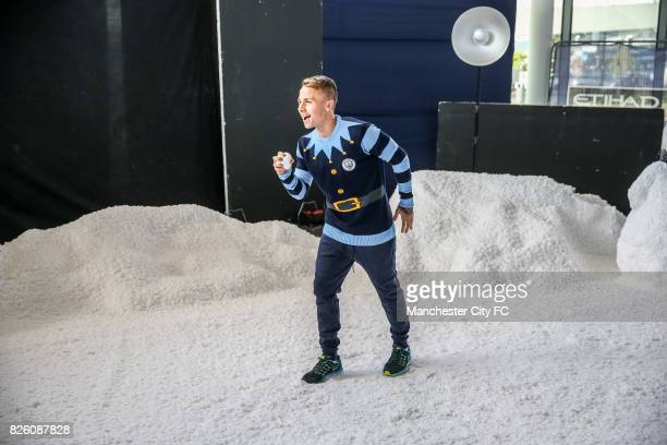 Manchester City's Angelino attending the official Manchester City christmas Jumper shoot of 2016