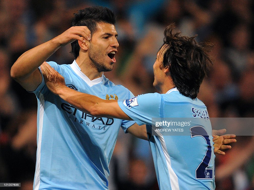Manchester City's Argentinian forward Se : News Photo