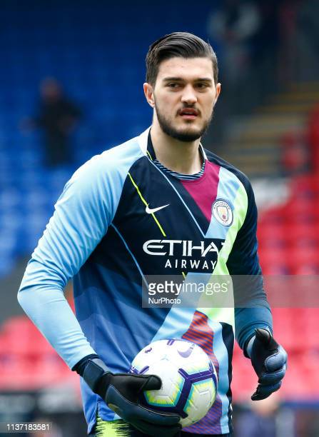 Manchester City's Arijanet Muric during the prematch warmup during English Premier League between Crystal Palace and Manchester City at Selhurst Park...