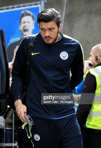 Manchester City's Arijanet Muric during the Premier League match at the AMEX Stadium Brighton