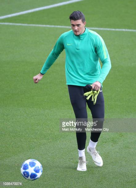 Manchester City's Aro Muric at Manchester City Football Academy on September 18 2018 in Manchester England