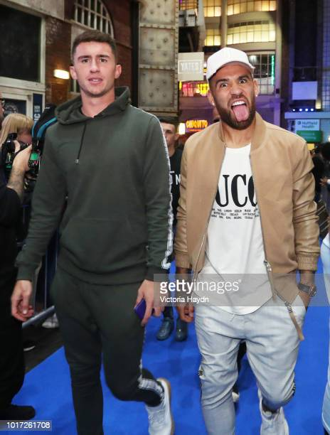 Manchester City's Aymeric Laporte and Nicolas Otamendi arrive at The Printworks on August 15 2018 in Manchester England