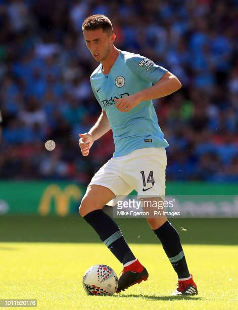 Manchester City's Aymeric Laporte during the Community Shield match at Wembley Stadium London