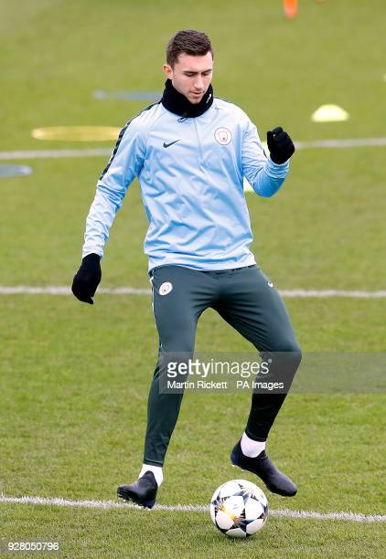 Manchester City's Aymeric Laporte during the training session at the CFA Manchester