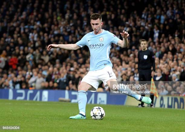 Manchester City's Aymeric Laporte during the UEFA Champions League QuarterFinal Second Leg match between Manchester City and Liverpool at Etihad...