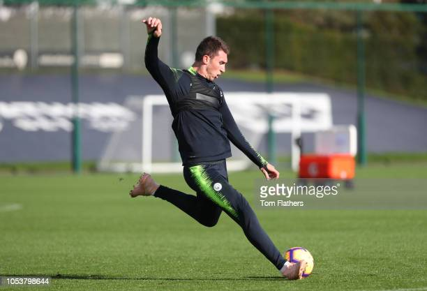 Manchester City's Aymeric Laporte in action during the training session at Manchester City Football Academy on October 26 2018 in Manchester England