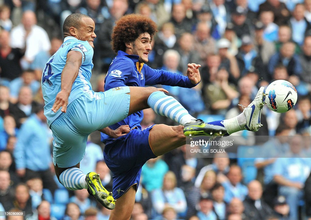 Manchester City's Belgian defender Vince : News Photo