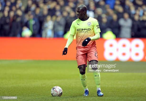 Manchester City's Benjamin Mendy during the FA Cup Fifth Round match between Sheffield Wednesday and Manchester City at Hillsborough on March 4 2020...
