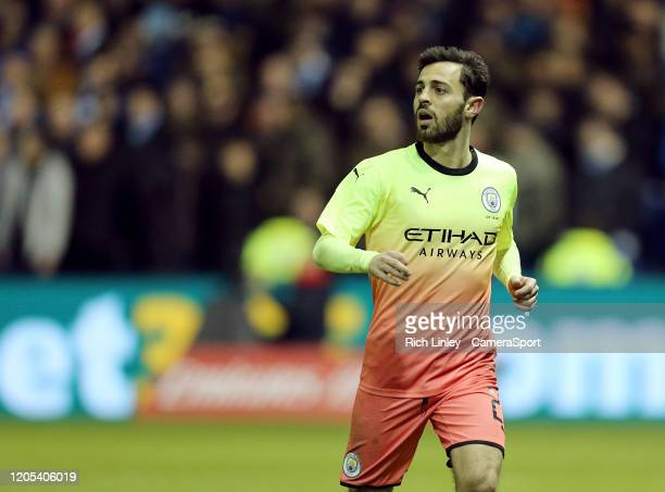Manchester City's Bernardo Silva during the FA Cup Fifth Round match between Sheffield Wednesday and Manchester City at Hillsborough on March 4 2020...