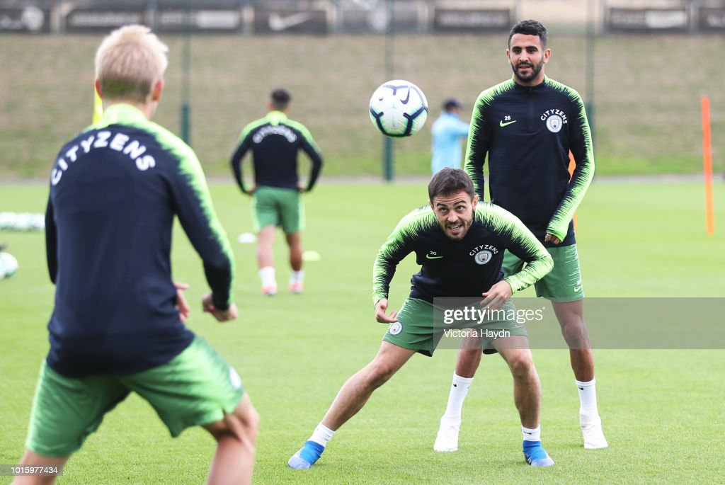 Manchester City's Bernardo Silva during training at Manchester City Football Academy on August 10, 2018 in Manchester, England.