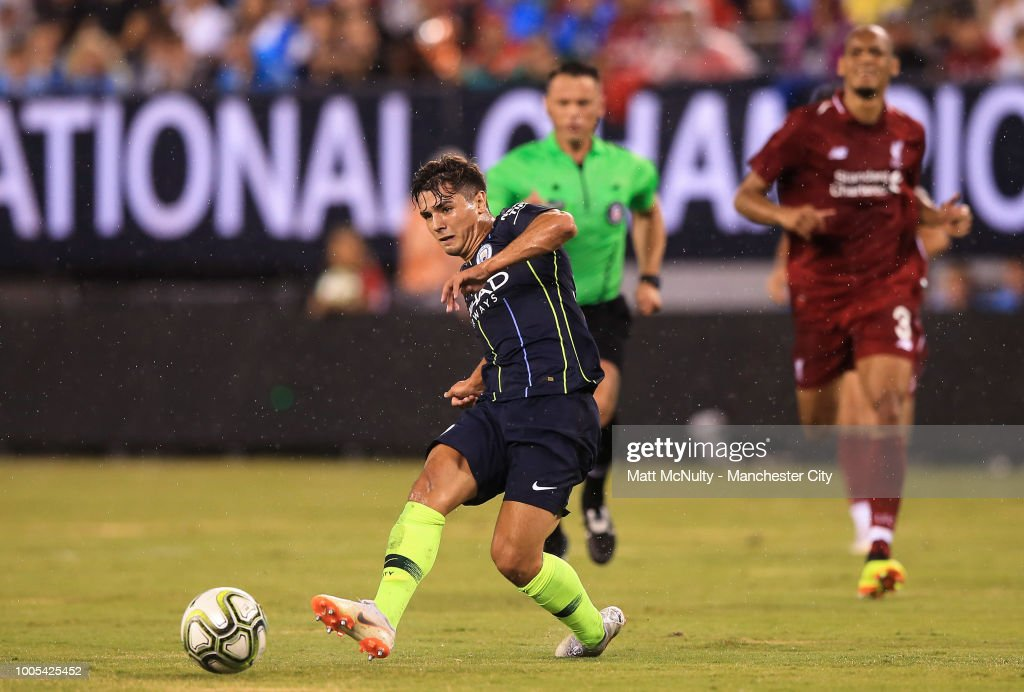 Manchester City's Brahim Diaz during the International Champions Cup match between Manchester City and Liverpool at the MetLife Stadium on July 25, 2018 in East Rutherford, New Jersey.