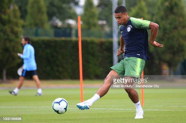 Manchester City's Cameron Humphreys during training at Manchester City Football Academy on July 16 2018 in Manchester England