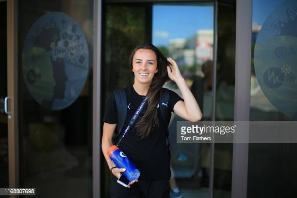 Manchester City's Caroline Weir arrives ahead of the 2019 Women's International Champions Cup match between Atletico de Madrid Femenino and...