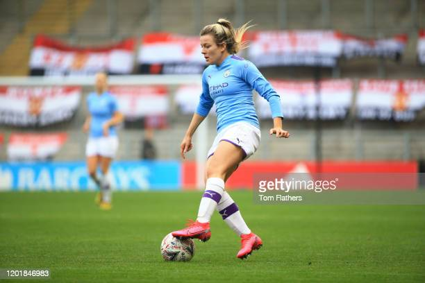 Manchester City's Caroline Weir arrives at Leigh Sports Village ahead of the Women's FA Cup Fourth Round between Manchester United Women v Manchester...