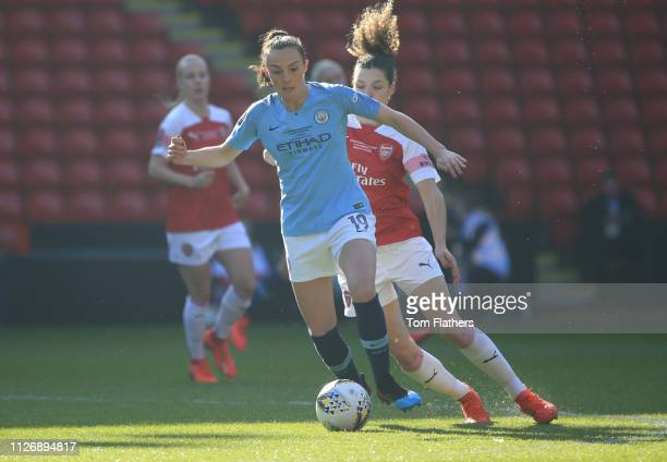 Manchester City's Caroline Weir in action during the Continental League Cup Final between Arsenal Women and Manchester City Women at Bramall Lane on...