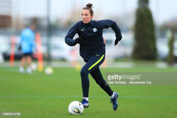 Manchester City's Caroline Weir in action during the training session at Manchester City Football Academy on November 20 2018 in Manchester England