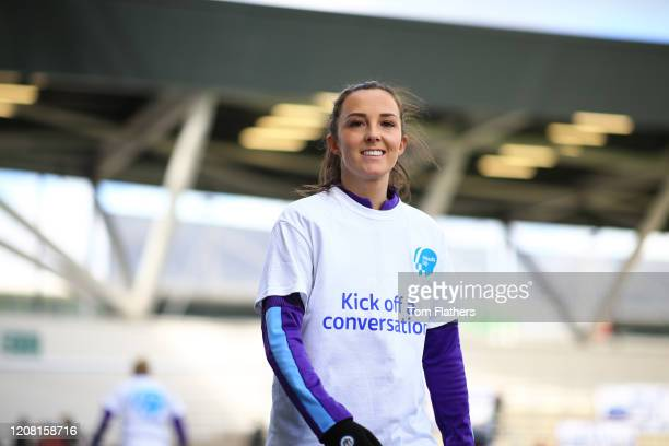 Manchester City's Caroline Weir prior to the Barclays FA Women's Super League match between Manchester City and Chelsea at The Academy Stadium on...