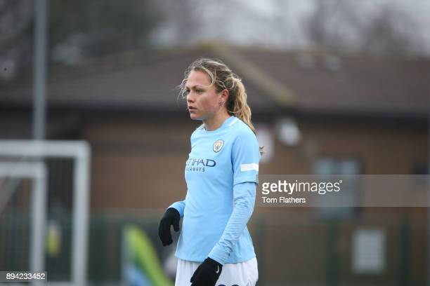 Manchester City's Claire Emslie in action during the FA WSL Continental Tyres Cup Quarter Final between Bristol City Ladies and Manchester City Women...