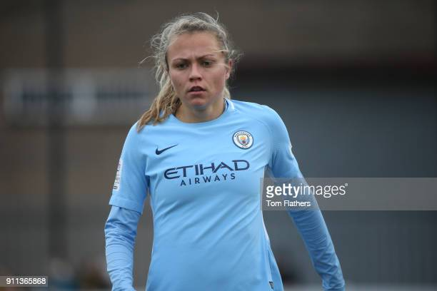 Manchester City's Claire Emslie in action during the WSL match between Sunderland AFC Ladies and Manchester City Women on January 28 2018 in...