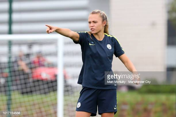 Manchester City's Caroline Weir during training at Manchester City Football Academy on August 15 2018 in Manchester England