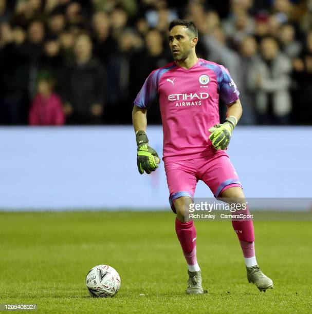 Manchester City's Claudio Bravo during the FA Cup Fifth Round match between Sheffield Wednesday and Manchester City at Hillsborough on March 4 2020...