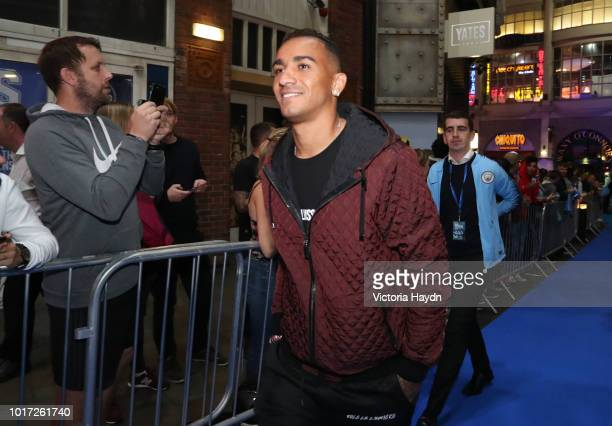 Manchester City's Danilo arrives at The Printworks on August 15 2018 in Manchester England