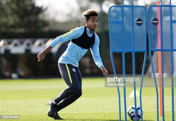 Manchester City's Demeaco Duhaney in training