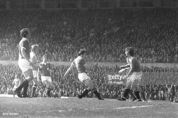 Manchester City's Denis Law seals his former club Manchester United's relegation with a cheeky backheeled goal to win the match as Manchester...