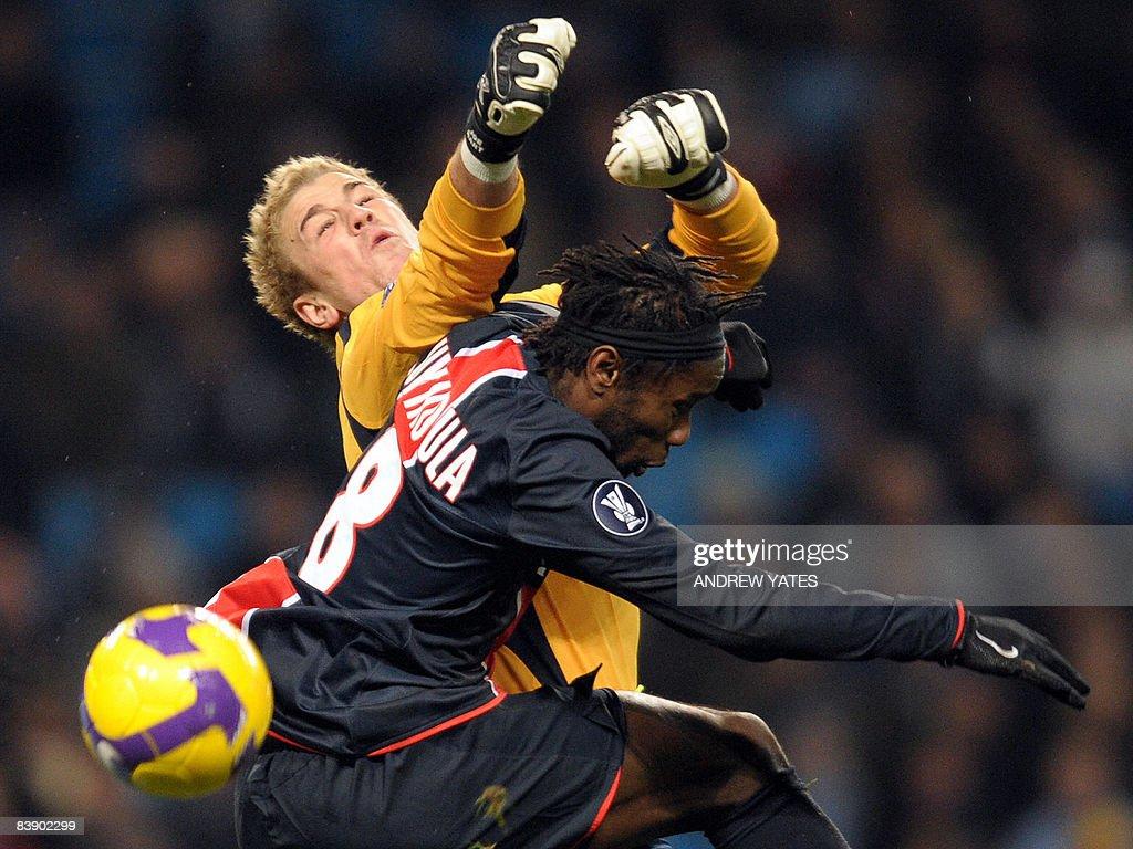 Manchester City's English goalkeeper Joe : News Photo