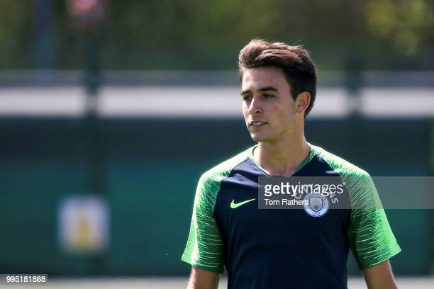 Manchester City's Eric Garcia during training at Manchester City Football Academy on July 10 2018 in Manchester England