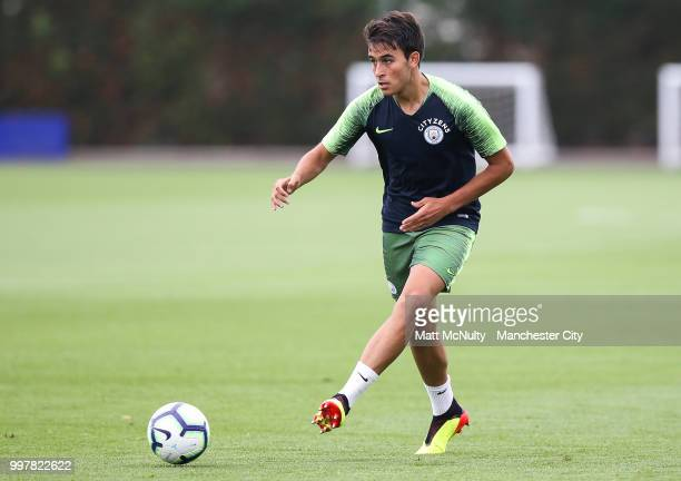 Manchester City's Eric Garcia during training at Manchester City Football Academy on July 13 2018 in Manchester England