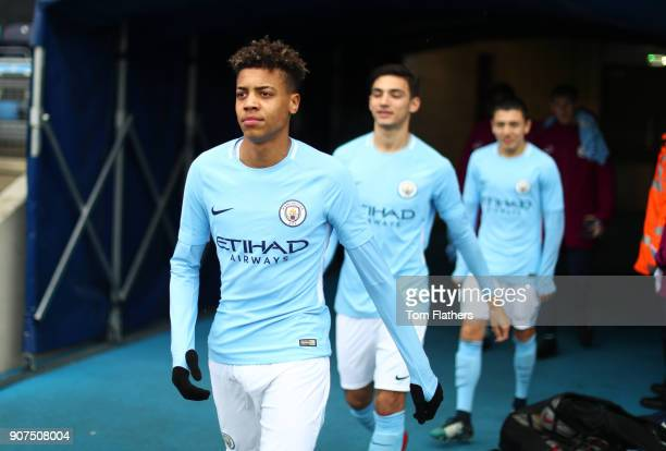 Manchester City's Felix Nmecha ahead of the U18 Premier League between Manchester City v Middlesbrough at Manchester City Football Academy on January...
