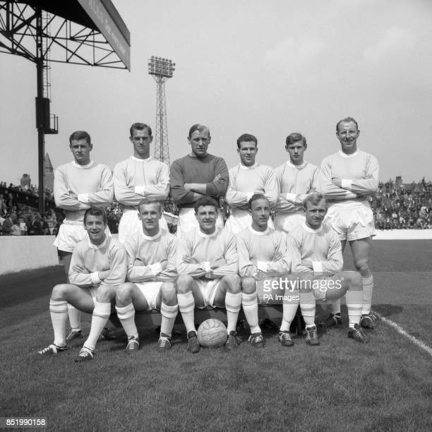 Manchester City's firstteam squad Back row Roy Cheetham Bill Lievers Bert Trautmann Bobby Kennedy David Wagstaffe Dave Ewing Front row Gerry Baker...