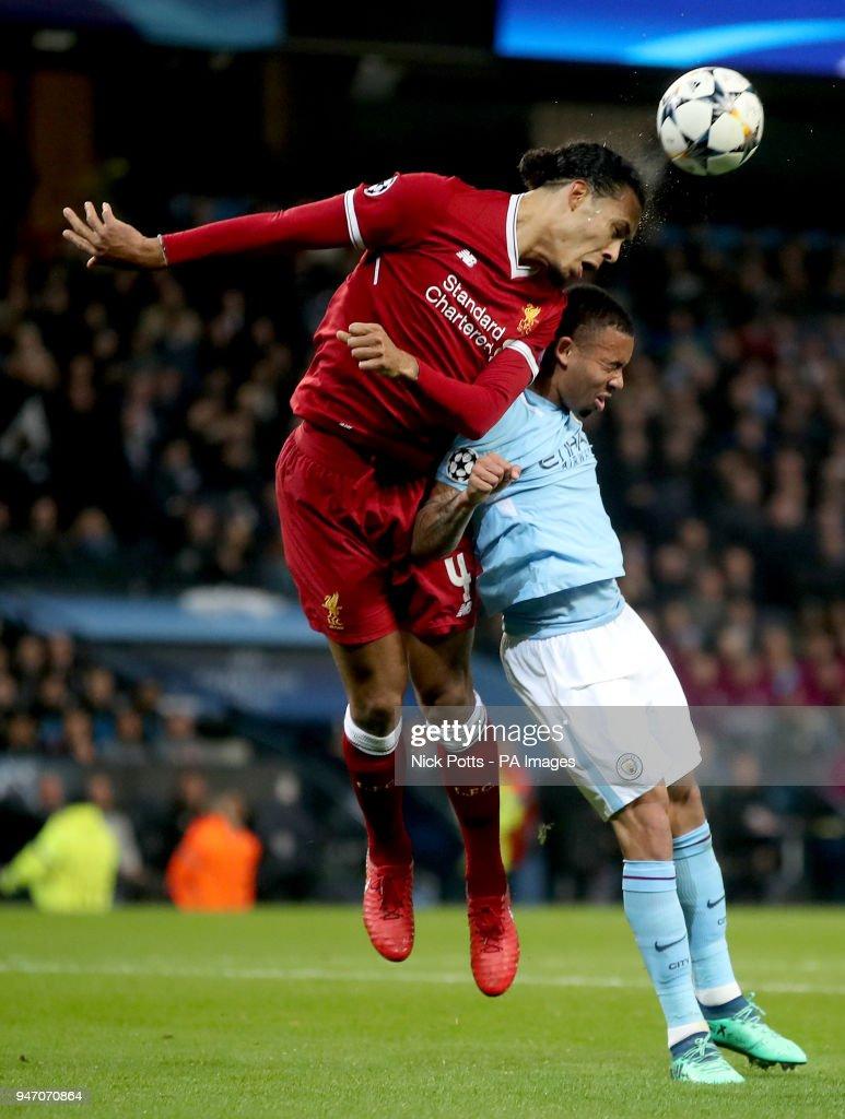 Manchester City v Liverpool - UEFA Champions League - Quarter Final - Second Leg - Etihad Stadium : News Photo