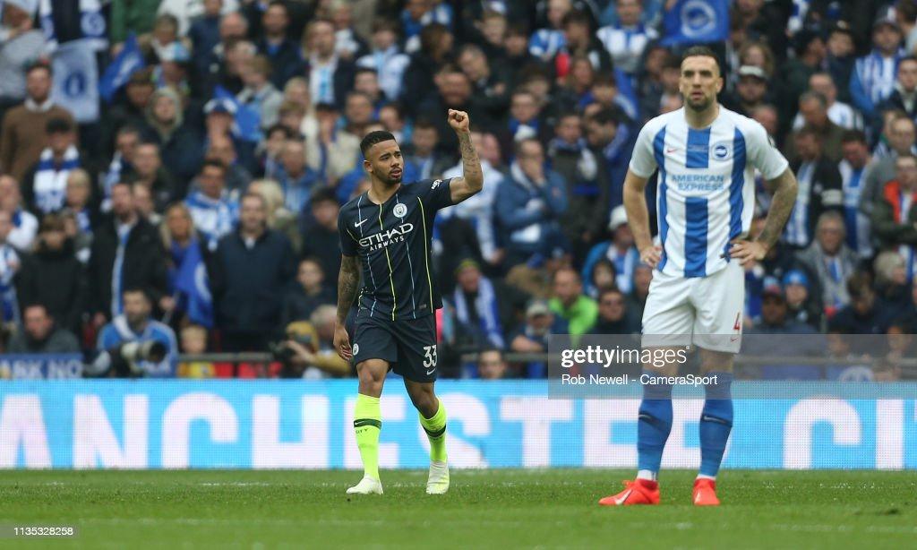 Manchester City v Brighton and Hove Albion - FA Cup Semi Final : News Photo