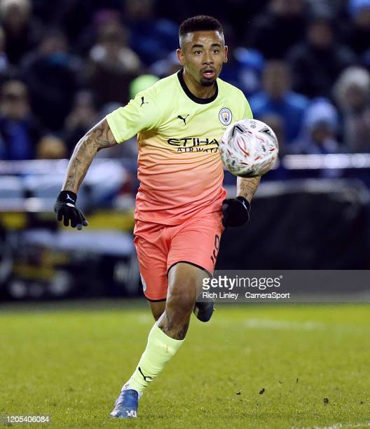 Manchester City's Gabriel Jesus during the FA Cup Fifth Round match between Sheffield Wednesday and Manchester City at Hillsborough on March 4 2020...
