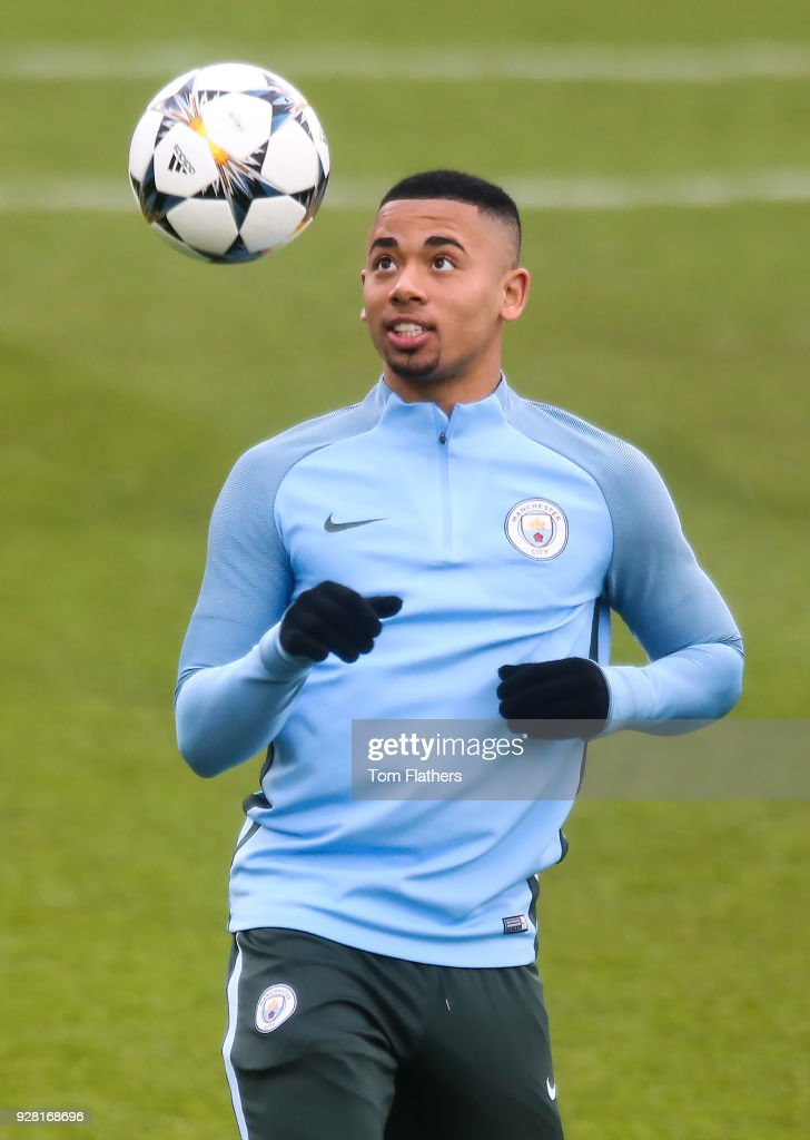 Fotos e imgenes de manchester city training and press conference manchester citys gabriel jesus during the open training session at manchester city football academy on march voltagebd Image collections