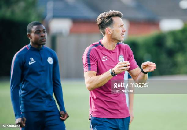 Manchester City's Gareth Taylor at Manchester City Football Academy on September 14 2017 in Manchester England