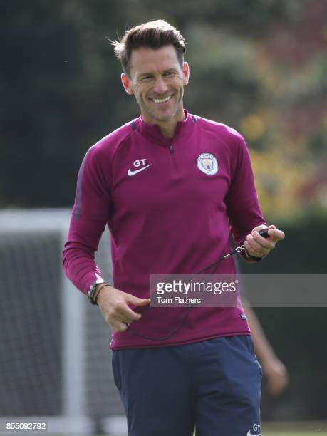 Manchester City's Gareth Taylor in training at Manchester City Football Academy on September 28 2017 in Manchester England