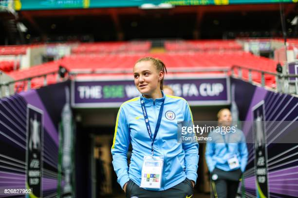 Manchester City's Georgia Stanway ahead of the FA Cup Final