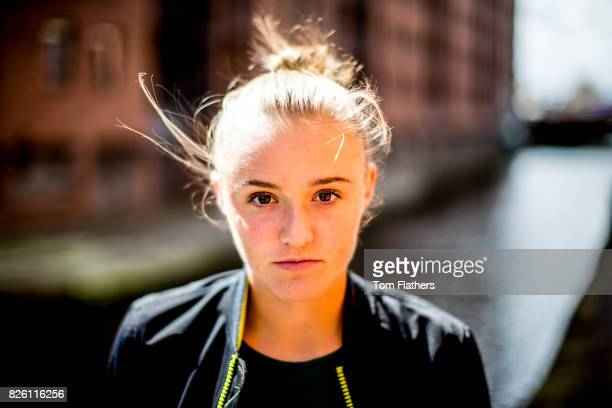 Manchester City's Georgia Stanway during a portrait session