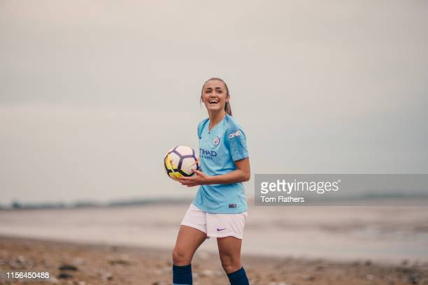 Manchester City's Georgia Stanway during a portrait shoot in Barrow in Furness on September 21 2018 in Barrow in Furness England