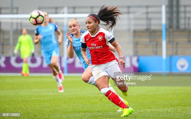 Manchester City's Georgia Stanway in action against Arsenal