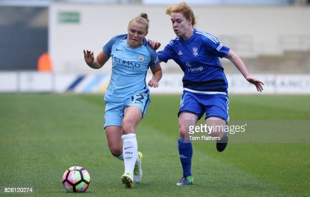 Manchester City's Georgia Stanway in action against Birmingham